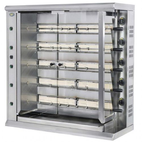 Roller Grill RBG30 Five Spit Extra Large Gas Rotisserie Rotisseries